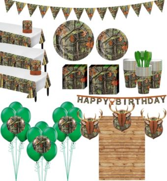 Hunting Camo Tableware Ultimate Kit for 24 Guests