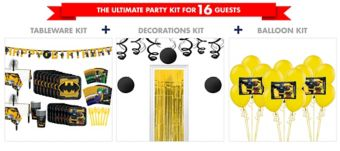 Lego Batman Movie Tableware Ultimate Kit for 16 Guests
