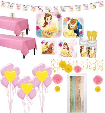 Beauty and the Beast Tableware Ultimate Kit for 16 Guests