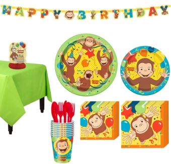 Curious George Tableware Party Kit for 8 Guests