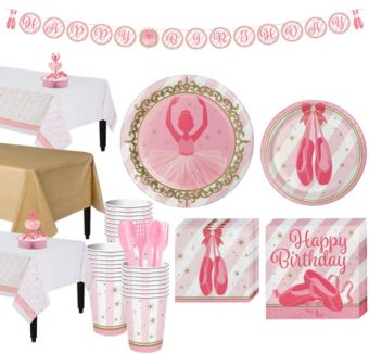 Ballerina Tableware Party Kit for 24 Guests