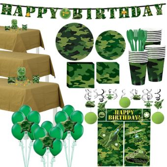 Camouflage Tableware Ultimate Kit for 24 Guests
