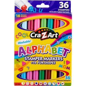 Cra-Z-Art Double-Ended Shape & Alphabet Stampers 18ct