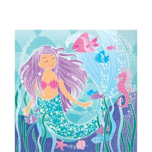 Mermaid Lunch Napkins 16ct