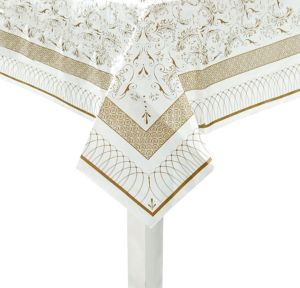 Porcelain Gold Paper Table Cover
