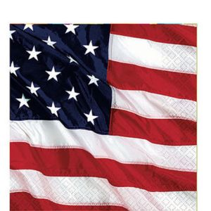Flying Colors American Flag Lunch Napkins 16ct