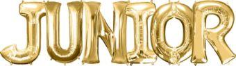 Giant Gold Junior Letter Balloon Kit