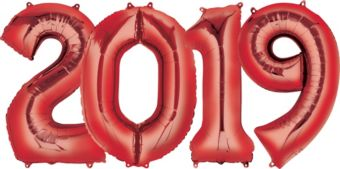 Giant Red 2019 Number Balloon Kit