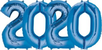 Giant Blue 2020 Number Balloon Kit