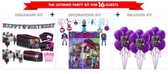 Monster High Tableware Ultimate Kit for 16 Guests