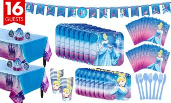 Cinderella Tableware Party Kit for 16 Guests