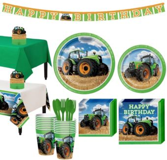 Tractor  Tableware Party Kit for 16 Guests