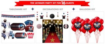 Magic Party Tableware Ultimate Kit for 16 Guests