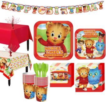 Daniel Tiger Tableware Party Kit for 16 Guests