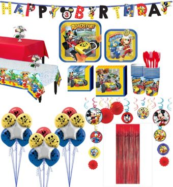 Mickey Mouse Roadster Tableware Ultimate Kit for 16 Guests