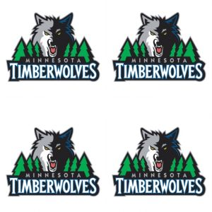 Minnesota Timberwolves Face Tattoos 4ct