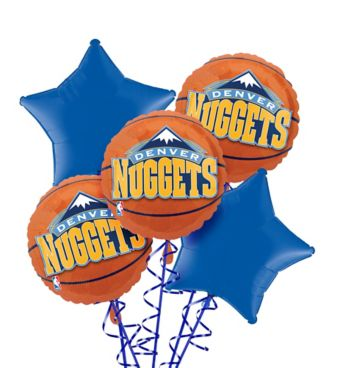 Denver Nuggets Balloon Bouquet 5pc
