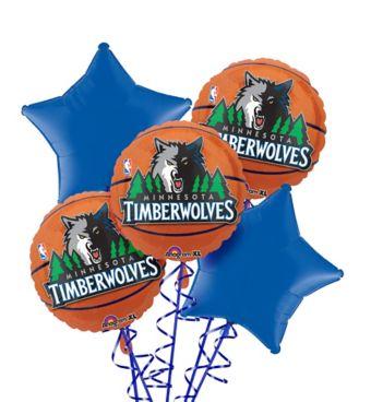 Minnesota Timberwolves Balloon Bouquet 5pc