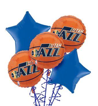 Utah Jazz Balloon Bouquet 5pc
