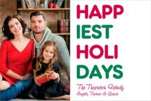 Custom Happiest Holidays Photo Cards