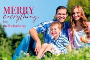 Custom Merry Everything Photo Cards
