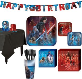 Star Wars 8 The Last Jedi Super Party Kit for 8 Guests