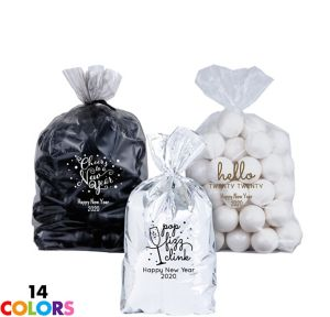 Personalized Small New Year's Plastic Treat Bags