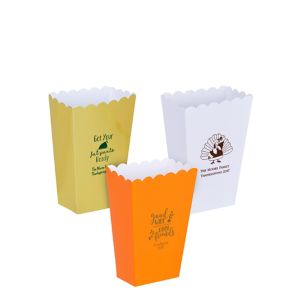 Personalized Mini Thanksgiving Popcorn Treat Boxes