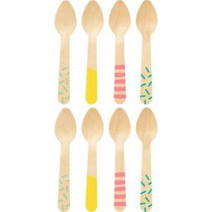 Mini Ice Cream Wood Spoons 24ct