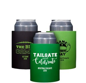 Personalized Football Can Coozies