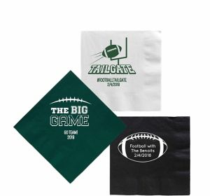 Personalized Football Beverage Napkins