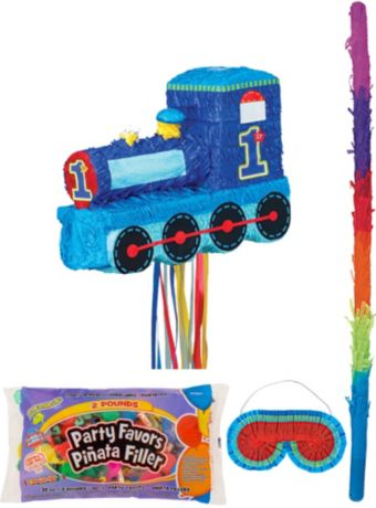 All Aboard 1st Birthday Pinata Kit with Candy & Favors