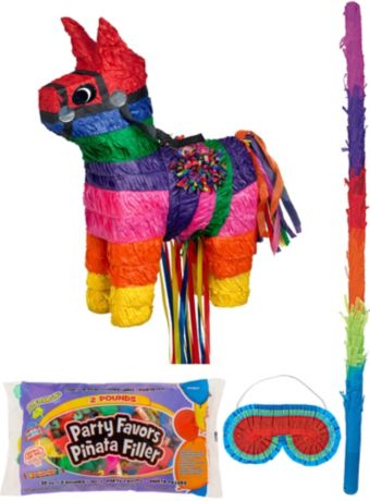 Burro Pinata Kit with Candy & Favors