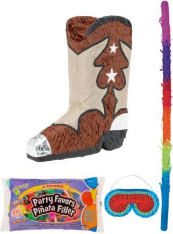 Cowboy Boot Pinata Kit with Candy & Favors