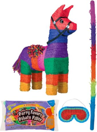 Donkey Pinata Kit with Candy & Favors