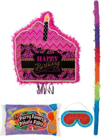 Fabulous Birthday Pinata Kit with Candy & Favors