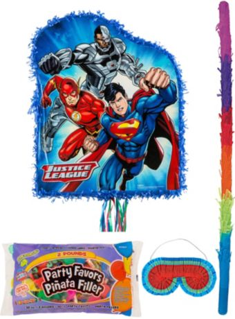 Justice League Pinata Kit with Candy & Favors