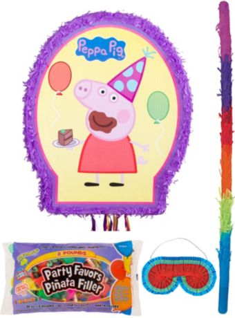 Outline Peppa Pig Pinata Kit with Candy & Favors