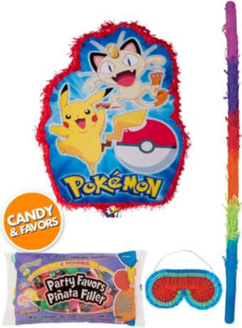 Pokemon Pinata Kit with Candy & Favors