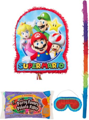 Super Mario Pinata Kit with Candy & Favors