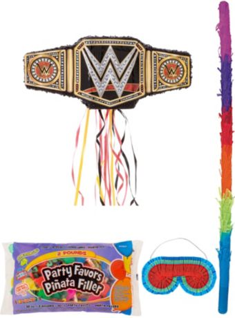 WWE Championship Title Belt Pinata Kit with Candy & Favors