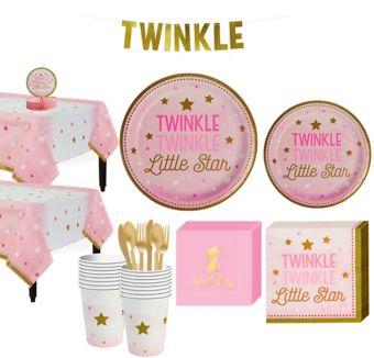 Pink Twinkle Twinkle 16CT Tableware Kit