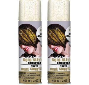 Glitter Gold Hair Spray 2ct