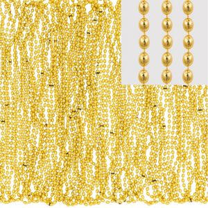 Metallic Gold Bead Necklaces 100ct