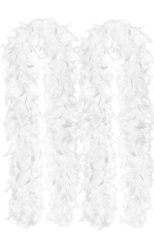 White Feather Boas 2ct