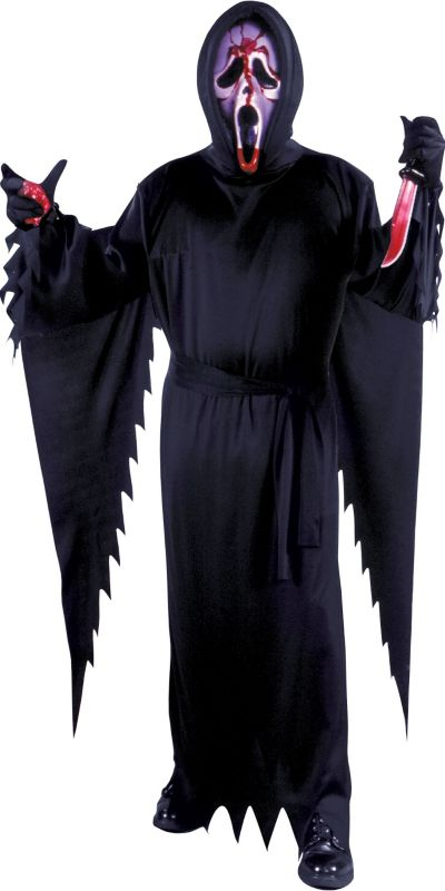 Adult Bleeding Ghost Face Costume - Scream