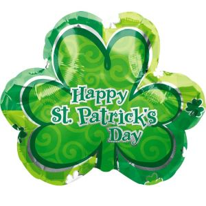 Foil Lucky Shamrock St. Patricks Day Balloon