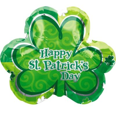 Foil Lucky Shamrock St. Patricks Day Balloon