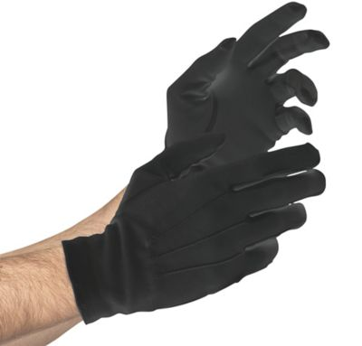 Adult Black Gloves Deluxe