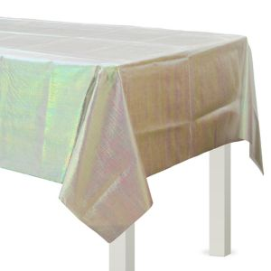 White Opalescent Table Cover